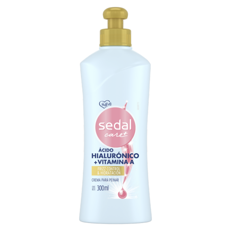 Sedal Ácido Hialurónico + Vitamina A Crema Para Peinar 300ml